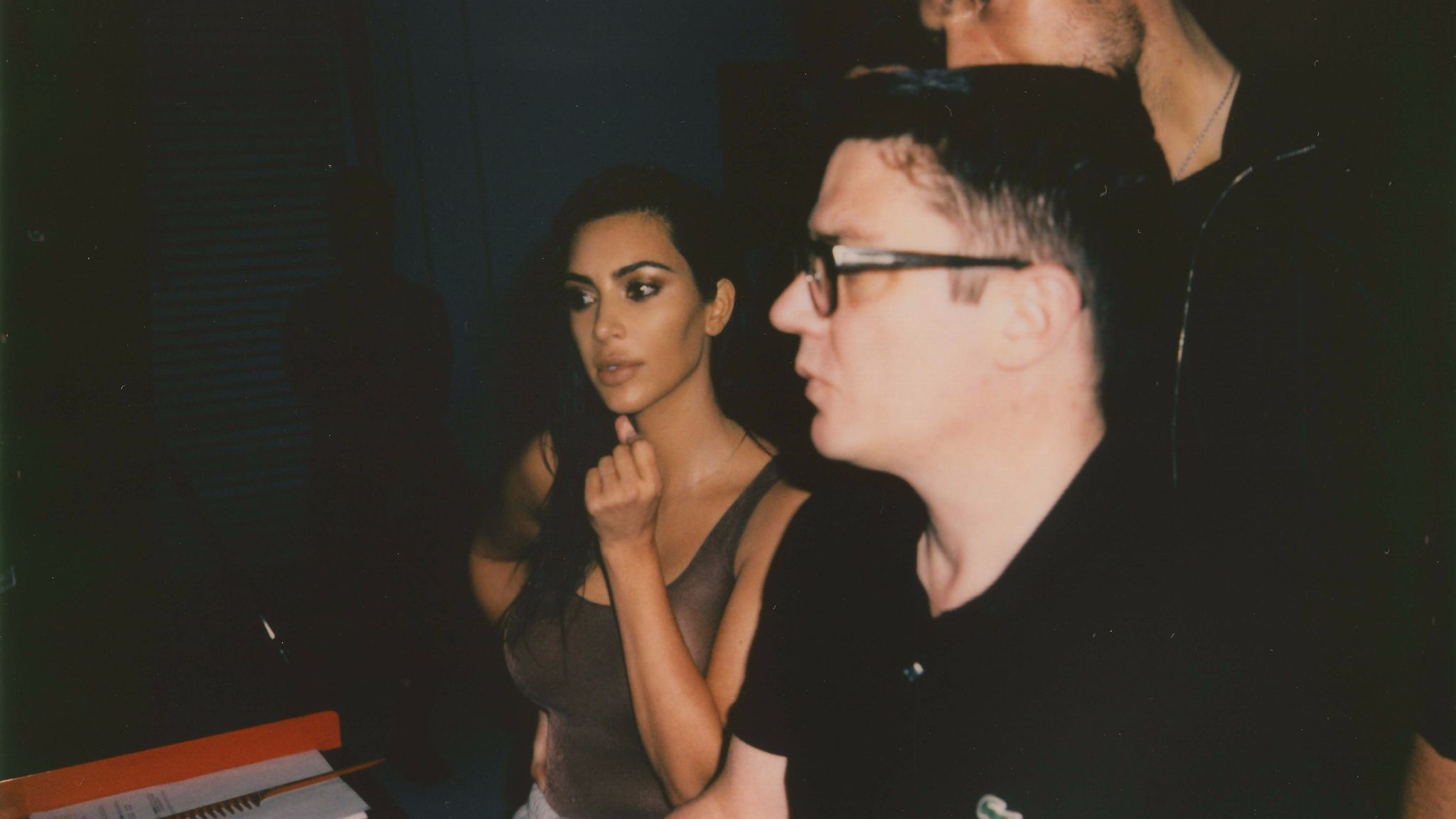 Behind the scenes of the KKW Beauty campaign shoot.
