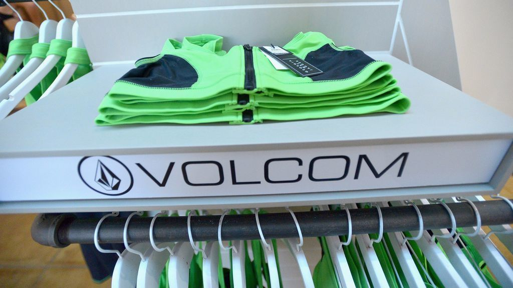 A look at some of the bright-colored pieces from the new Volcom X GMJ collection.