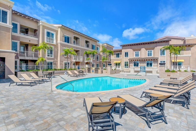 One of two resort-style pools at Altura Carmel Valley.
