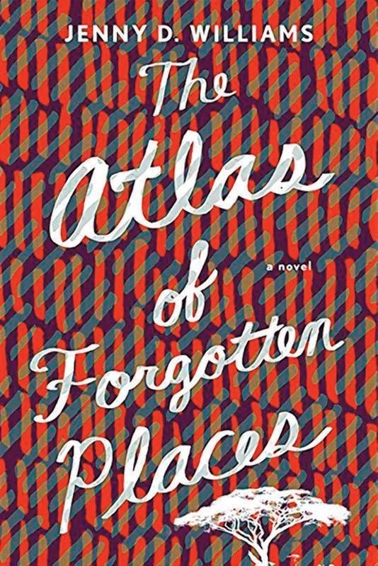 Book cover of The Atlas of Forgotten Places by Jenny Williams.
