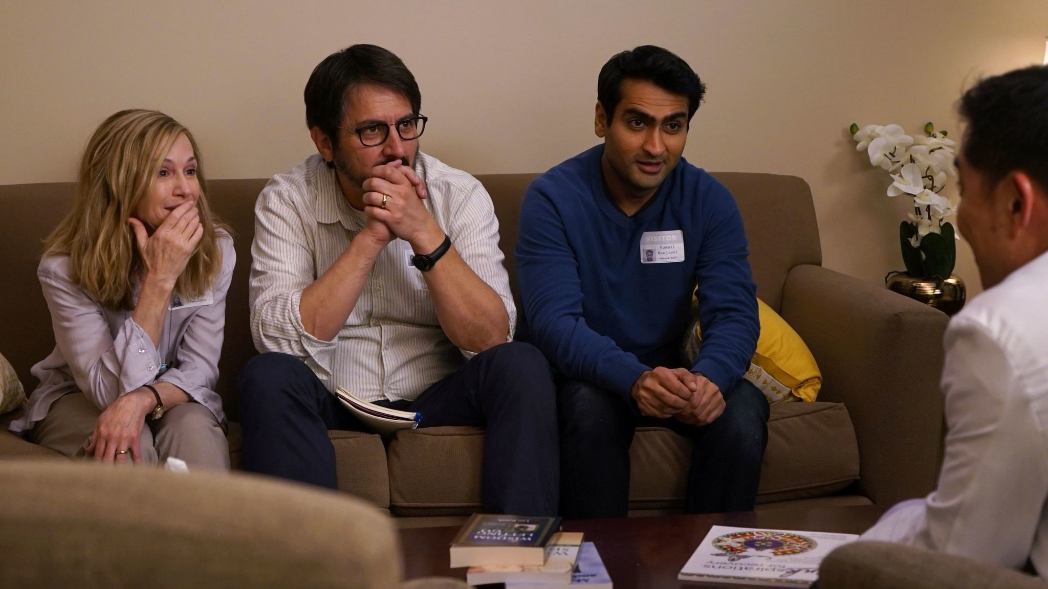 """Holly Hunter, from left, Ray Romano and Kumail Nanjiani in a scene from, """"The Big Sick."""""""