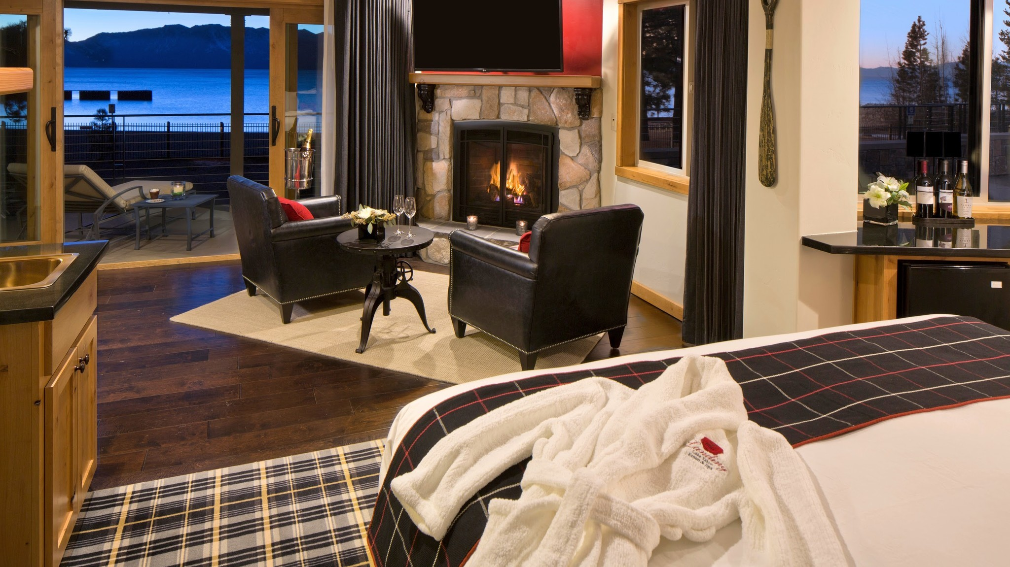 Two nights' lodging and spa treatments are part of the Landing's $1,500 package.