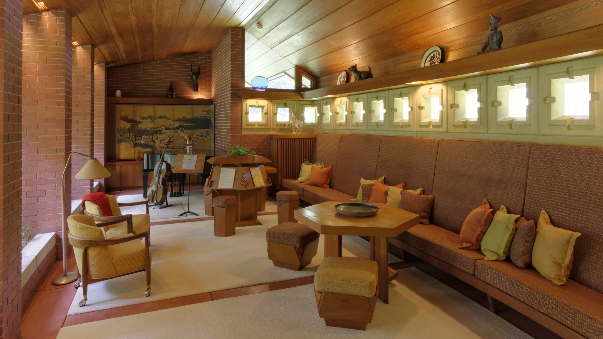 Frank Lloyd Wright designed everything from the exterior to the interior — even the furniture and the mailbox — at the Zimmerman House, part of the Currier Museum of Art.