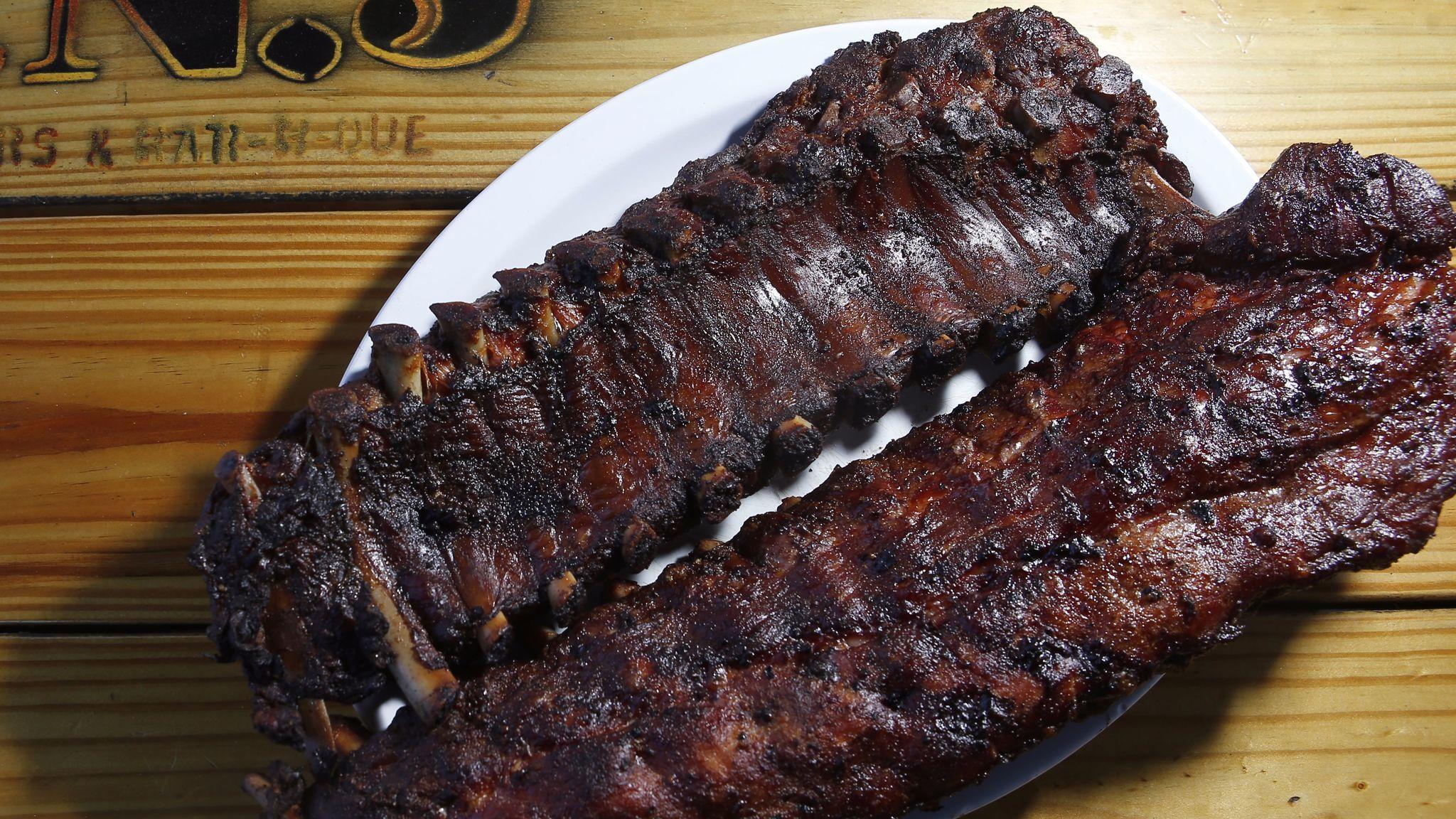 Baby back ribs at JNJ Bar-B-Que and Burgers.