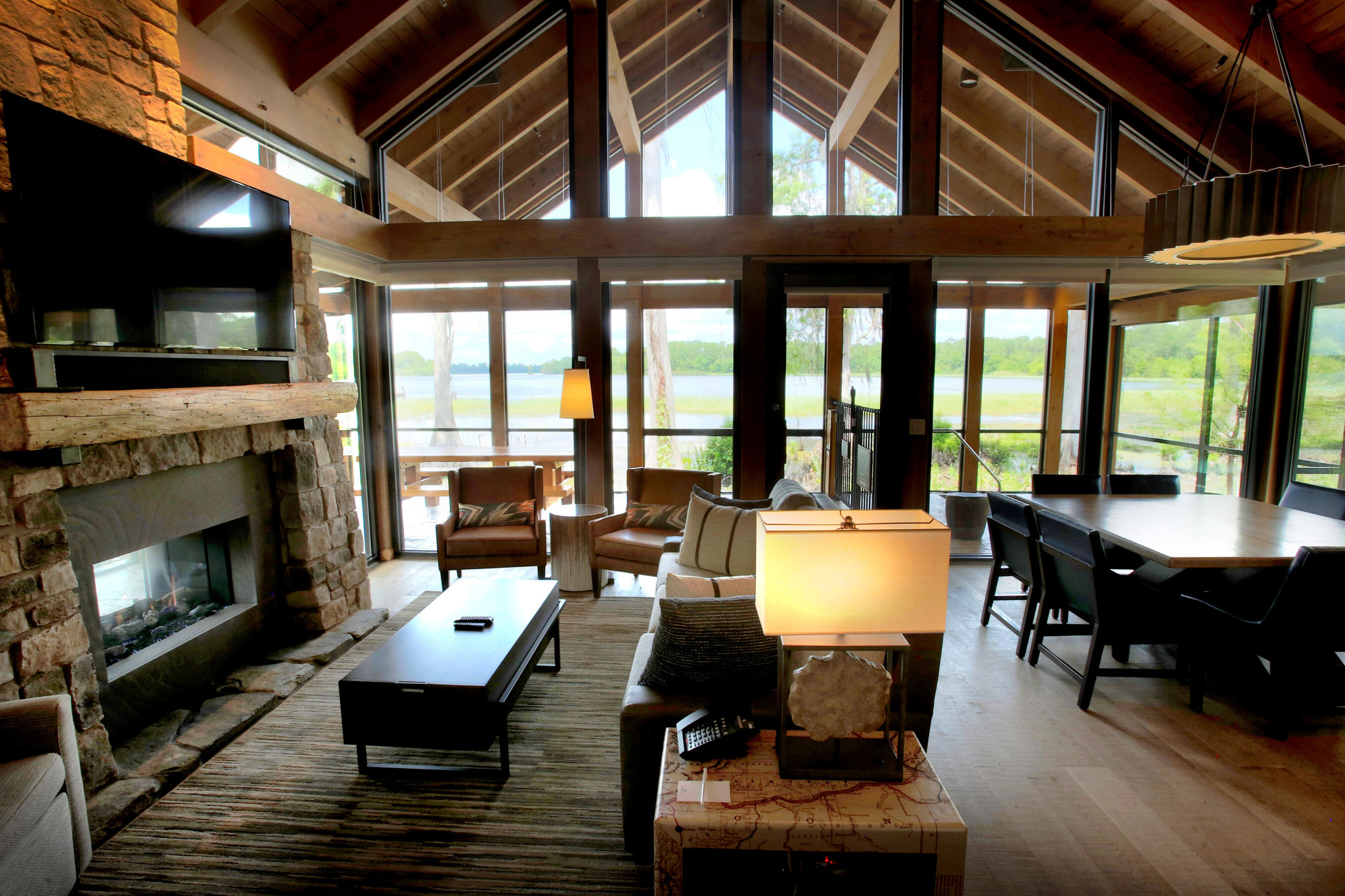 Combined Living Room Dining Room Pictures First Look Copper Creek Villas Cabins At