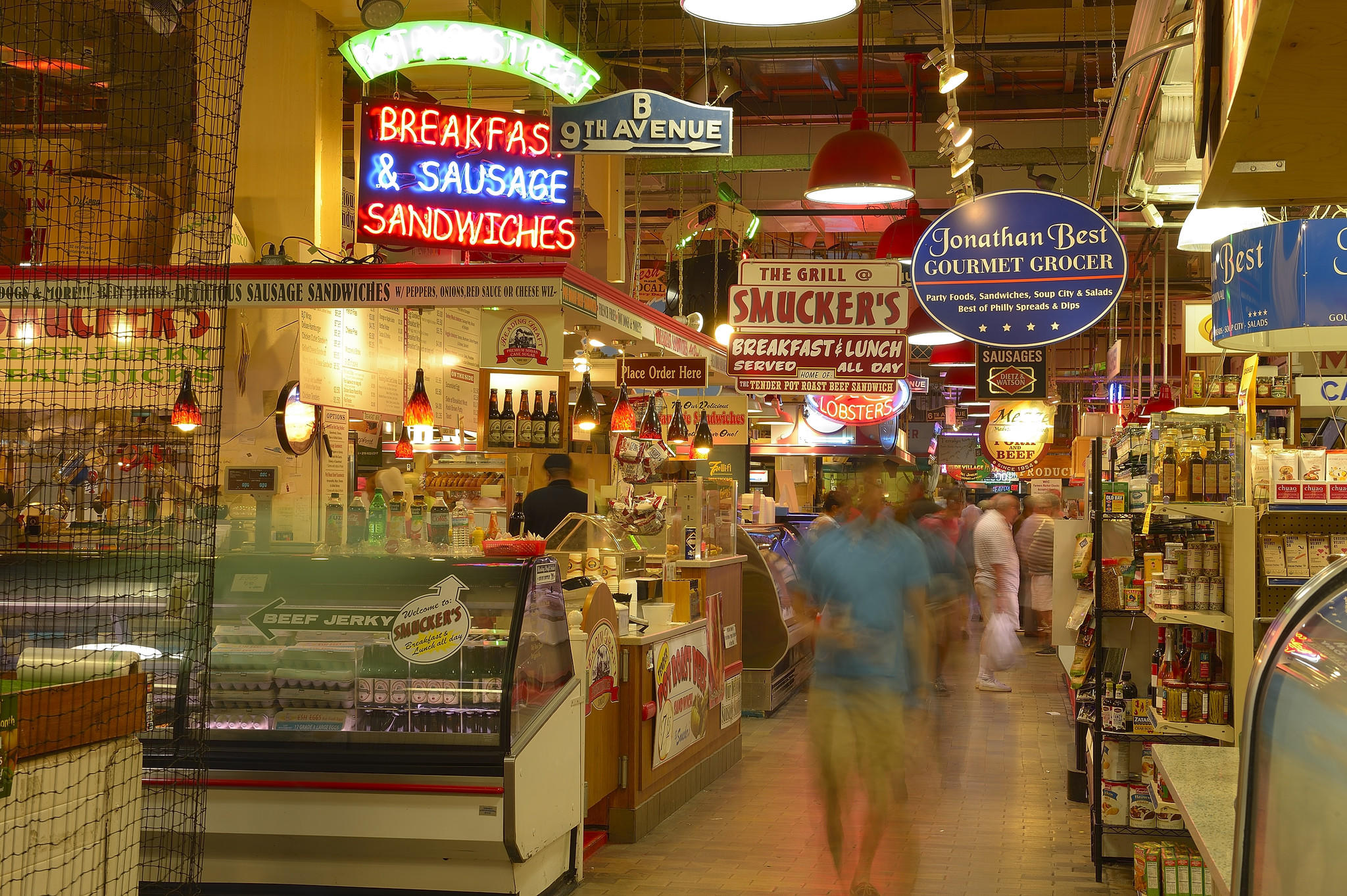 Scene from Reading Terminal Market.