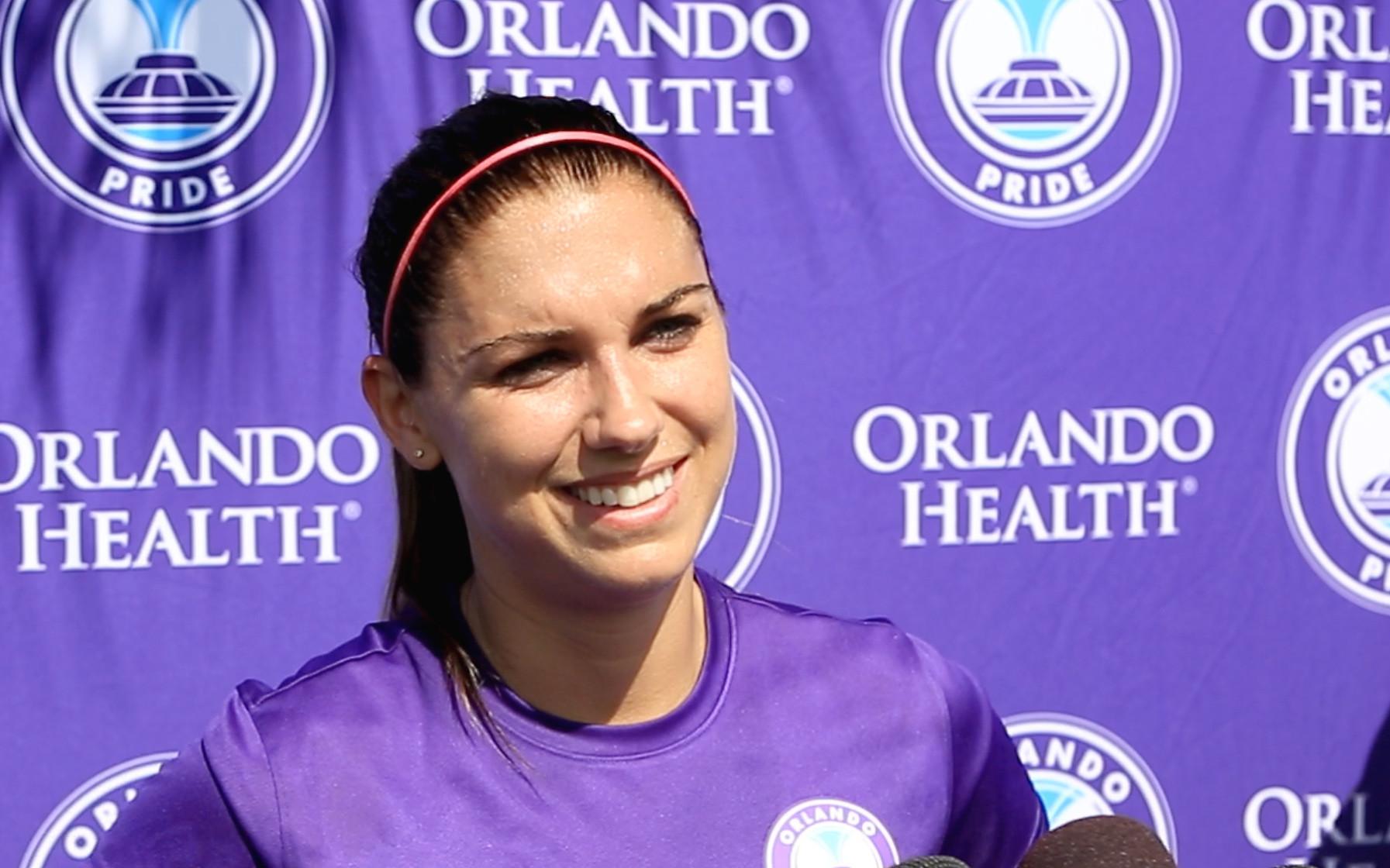 36afe3fe972 Orlando Pride star Alex Morgan to make her 2017 debut Saturday against  Chicago at Orlando City Stadium - Orlando Sentinel