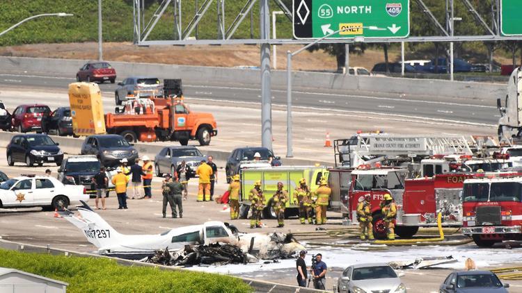 Plane crashed on the 405 freeway in Orange County   Sherdog