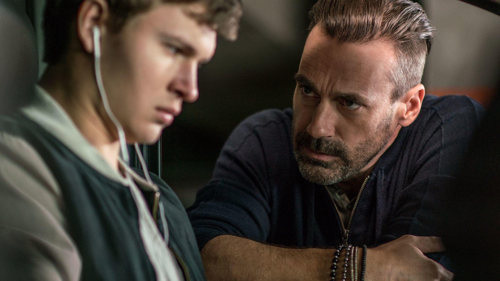 "Ansel Elgort and Jon Hamm star in Edgar Wright's ""Baby Driver."""