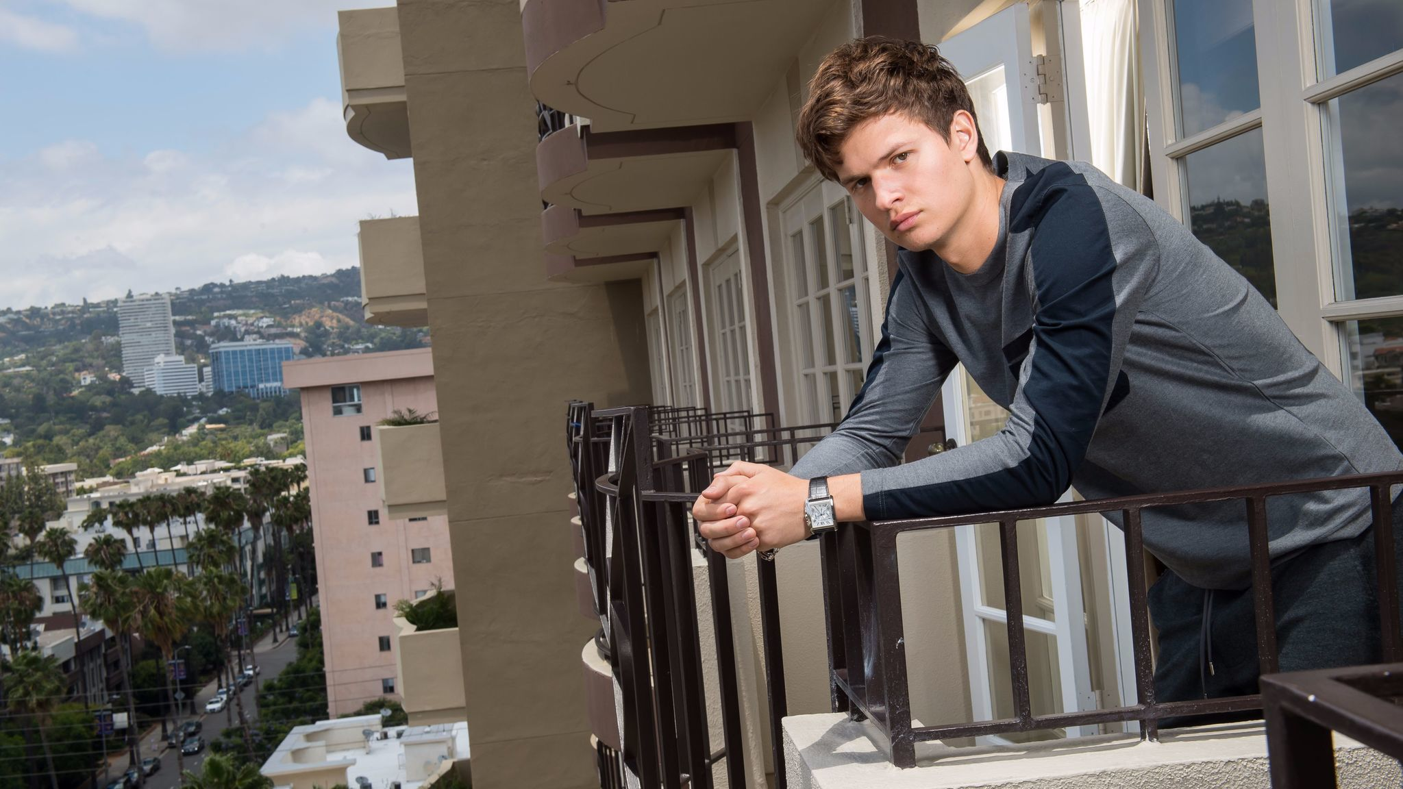 Ansel Elgort, in Beverly Hills last month, remembers being confident at age 9 that he wanted to be a performer.
