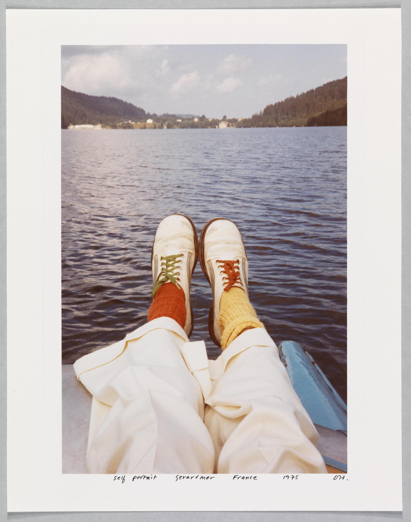 "David Hockney, ""Self Portrait Gerardmer France 1975,"" chromogenic print, 14.25 inches by 11.25 inches"