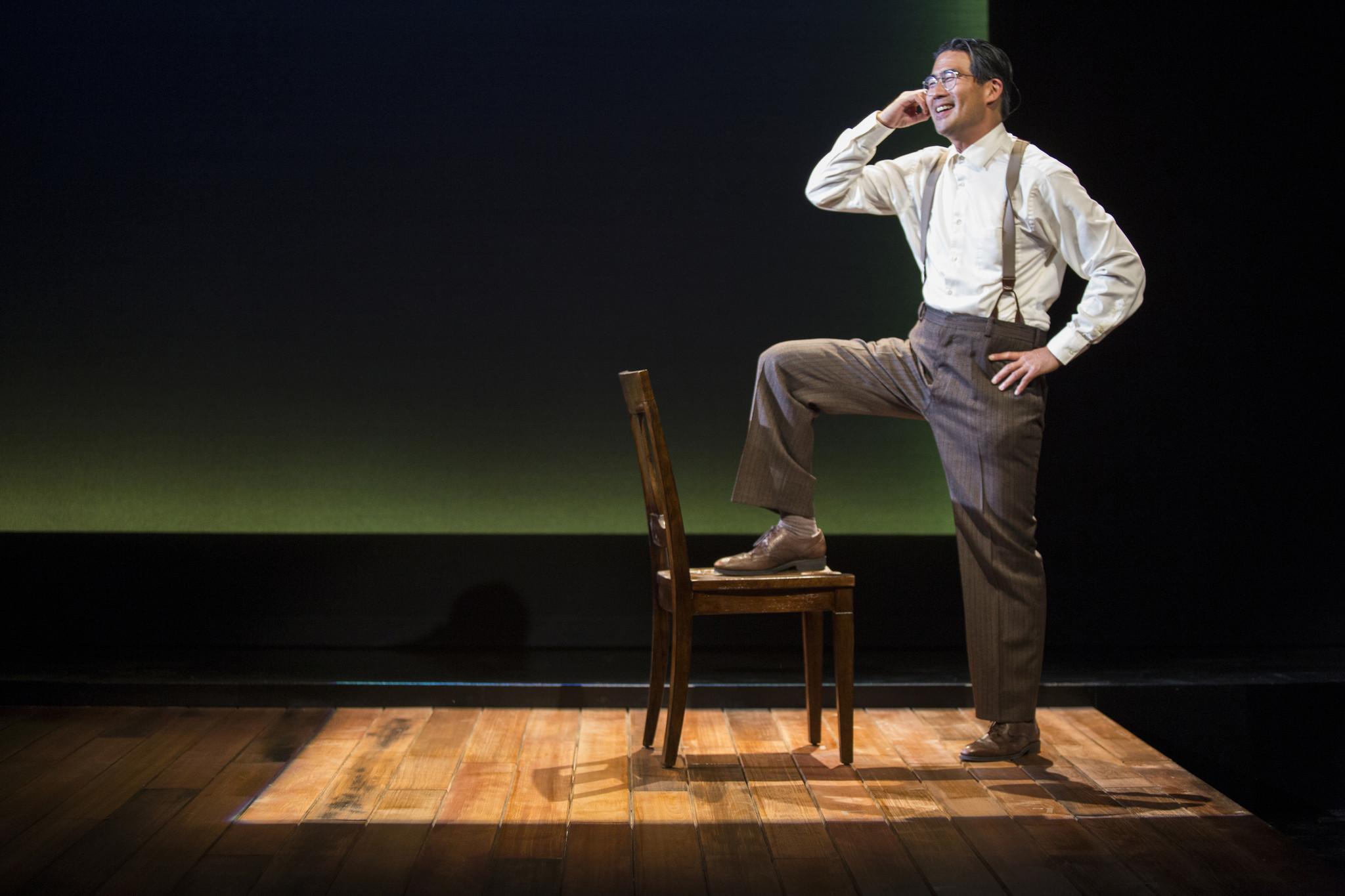 """Ryun Yu as civil rights activist Gordon Hirabayashi in """"Hold These Truths"""" at Pasadena Playhouse."""