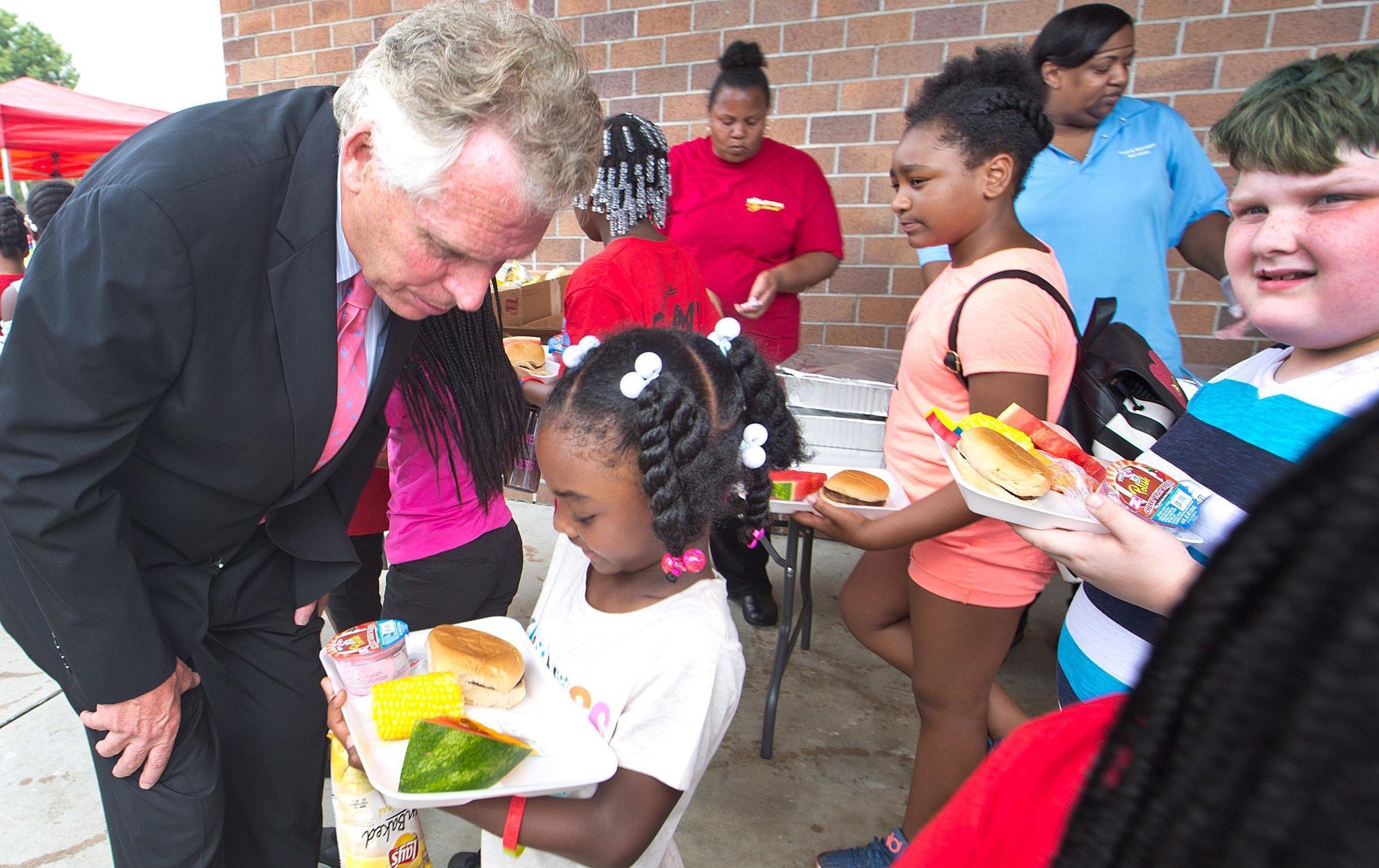 McAuliffe Kicks Off Summer Meals Program In Hampton