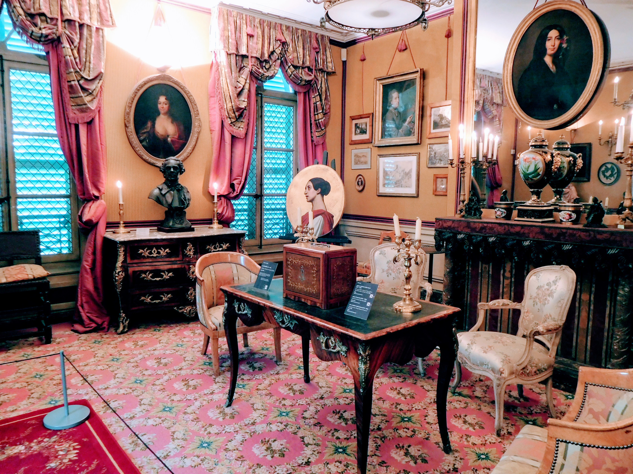 The George Sand room at the Museum of Romantics.