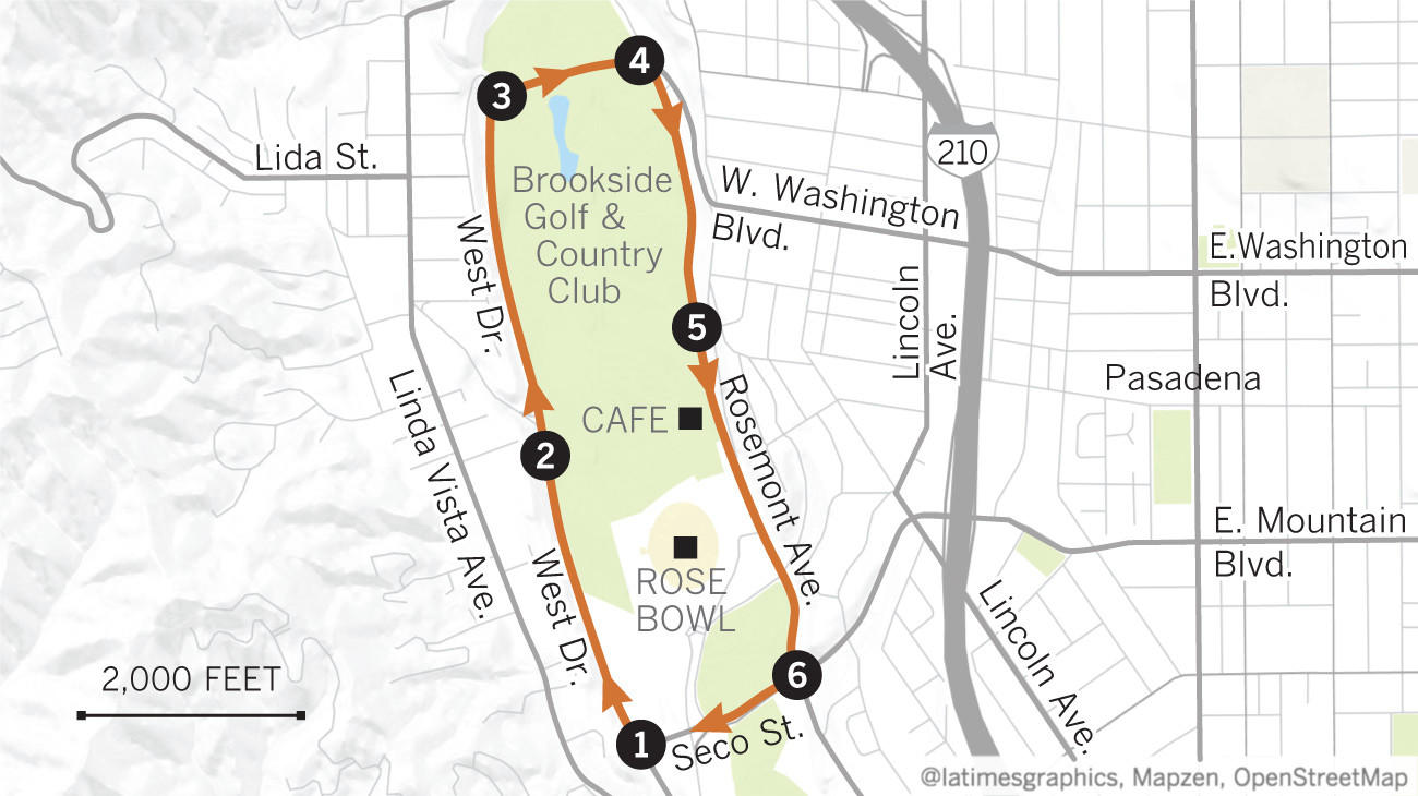 Try this great L A  Walk: Strolling around the Rose Bowl in