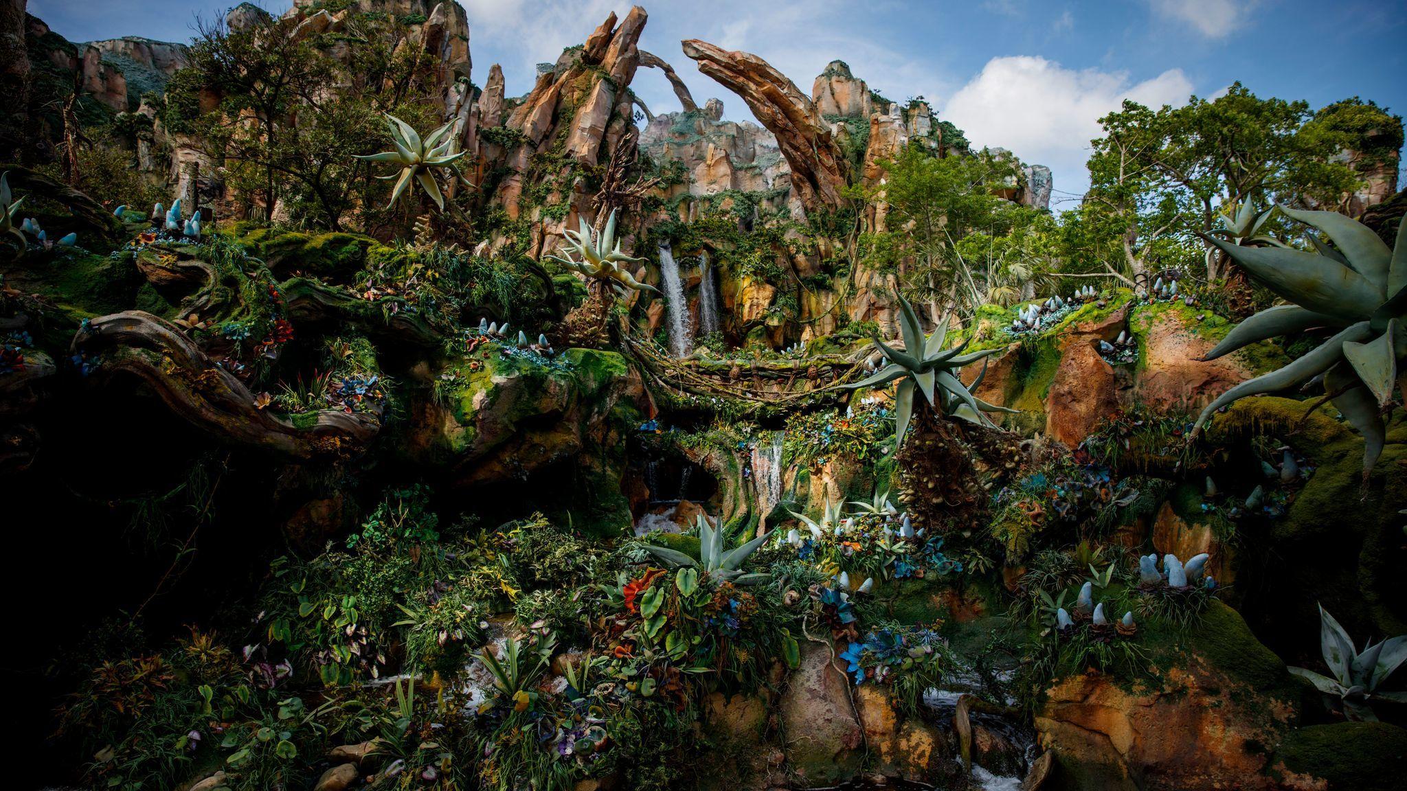 Pandora at Walt Disney World's Animal Kingdom in Florida treats the entire land as environmental storytelling.