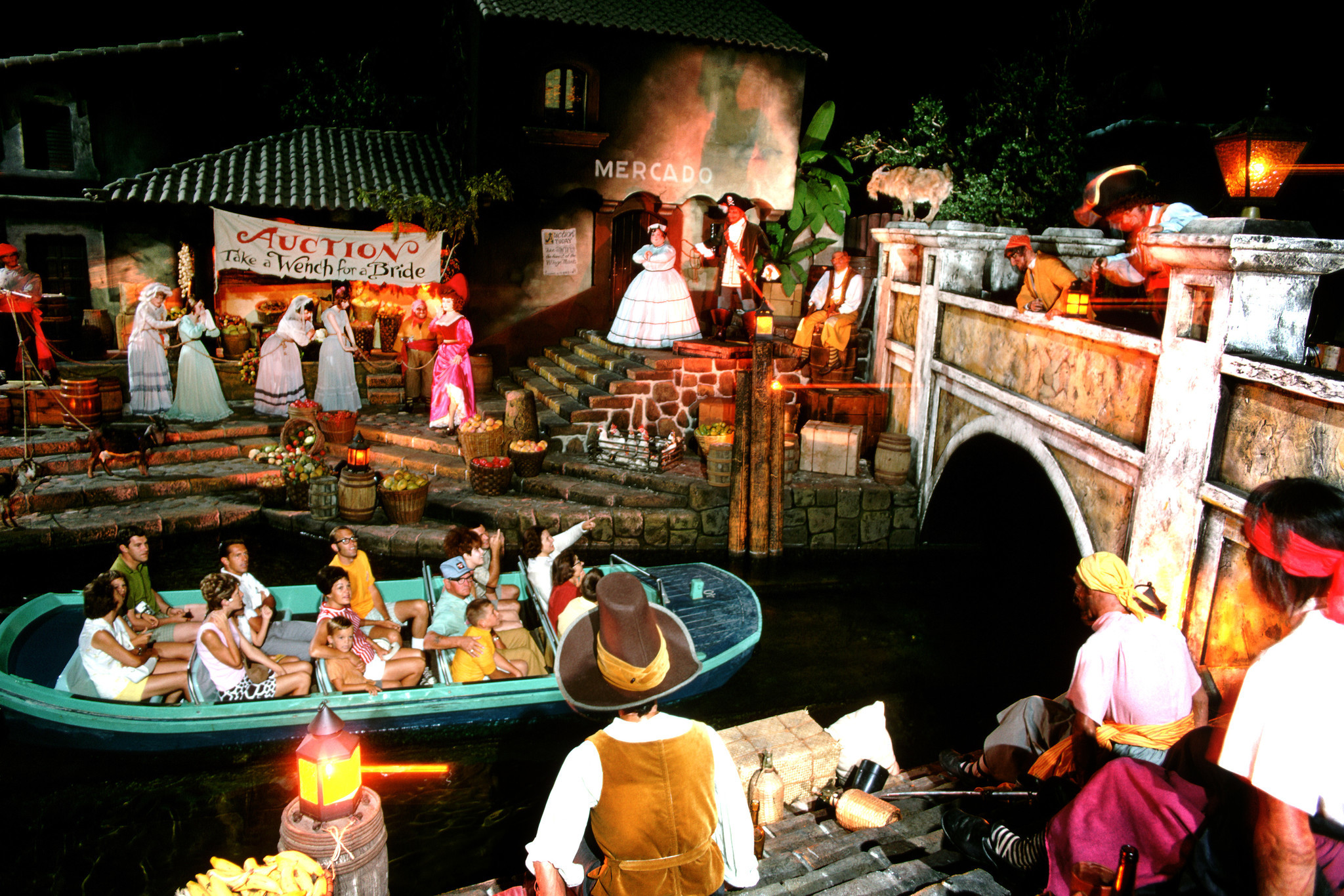 A view of the Pirates of the Carribean attraction at Disneyland.