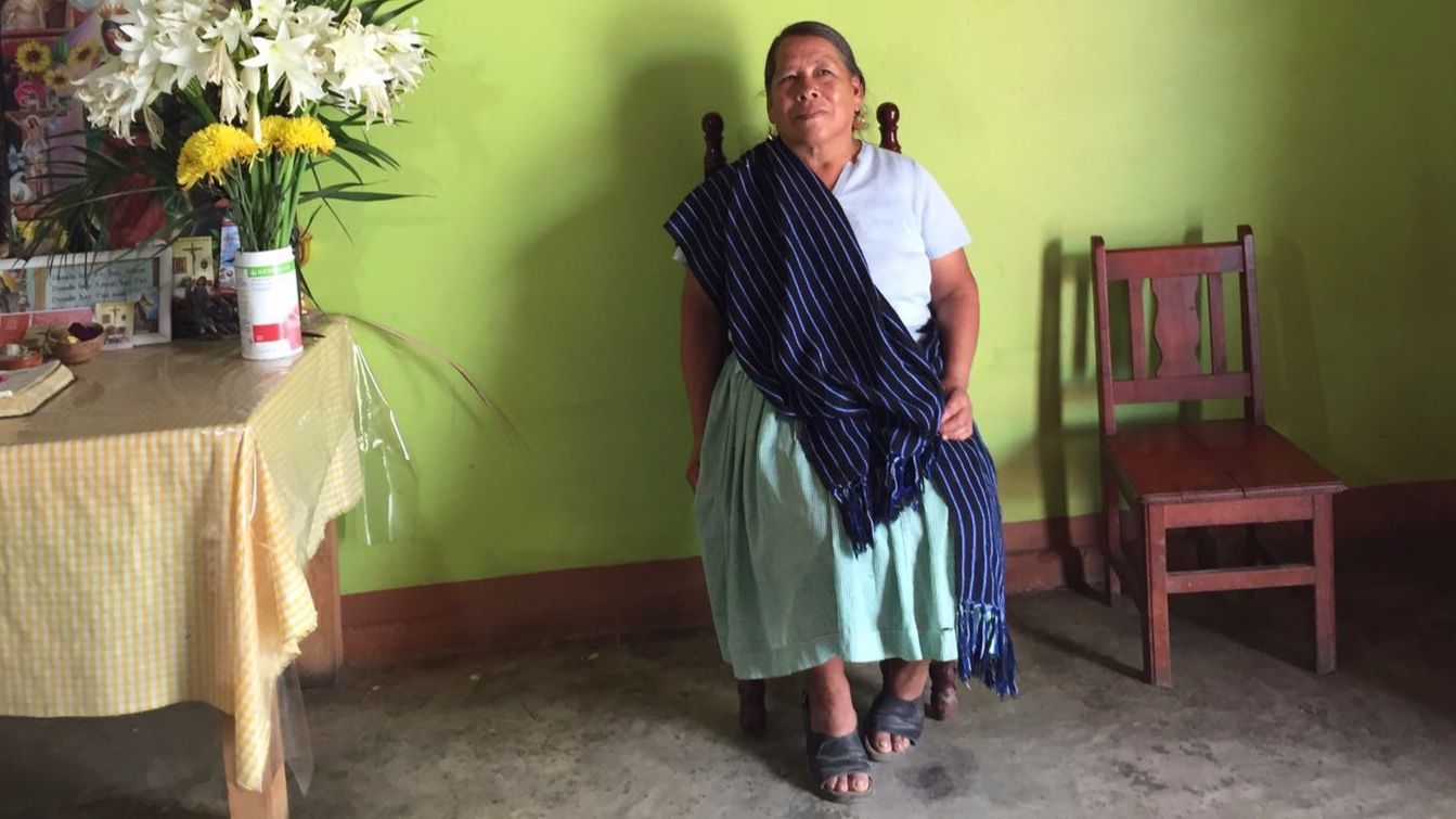 Josefina Estrada, a petite grandmother who helped lead the revolt in Cheran.