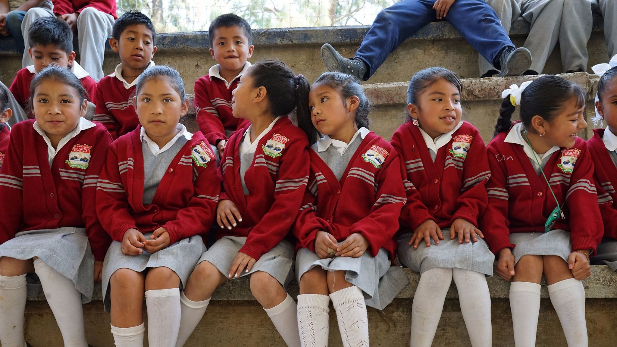 "Students at Erandi (meaning ""Dawn"" in Purepecha language) elementary school in Cheran, Mexico. State,"