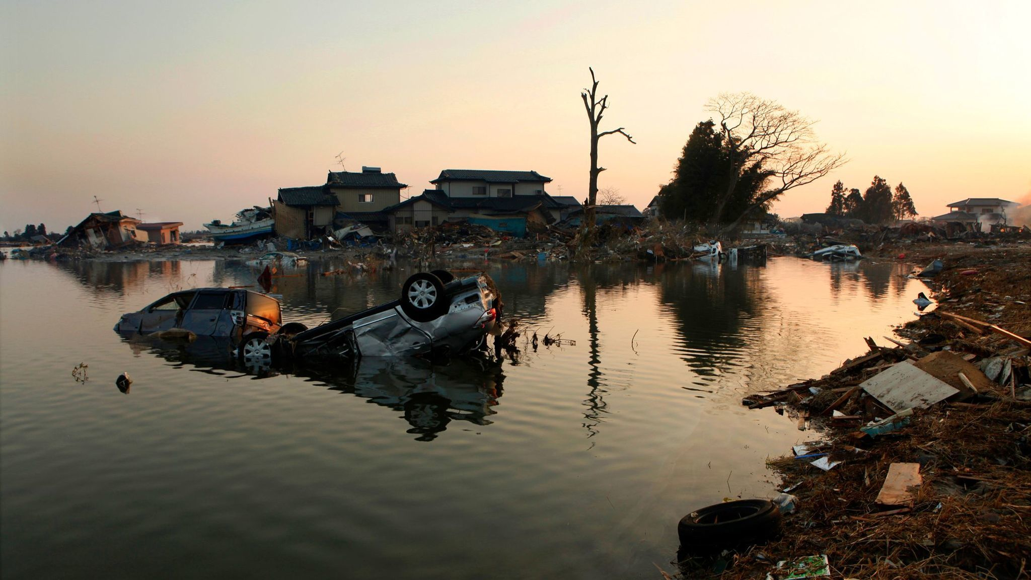 The Natori area of the town of Sendai was destroyed by the earthquake and tsunami that followed in 2011.