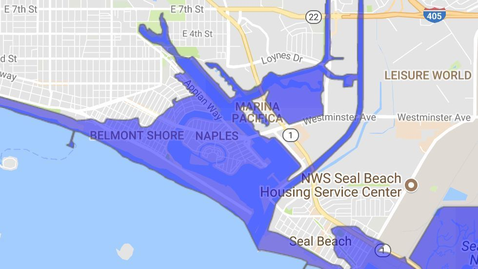 The Naples and Belmont Shore areas of Long Beach could be flooded by tsunami.