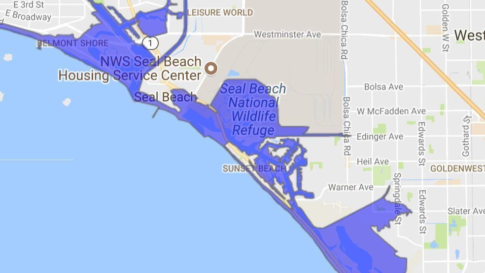 Sunset Beach could be hit hard in a tsunami.