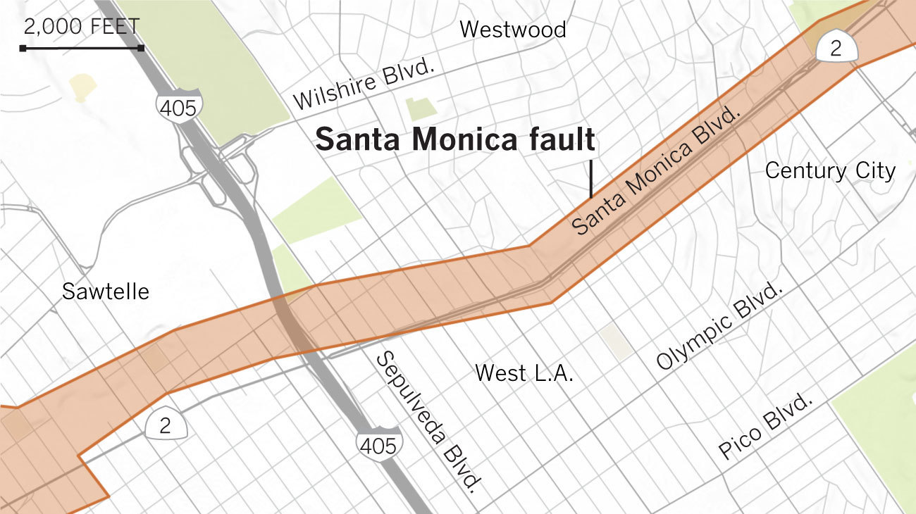 Earthquake fault maps for Beverly Hills, Santa Monica and other