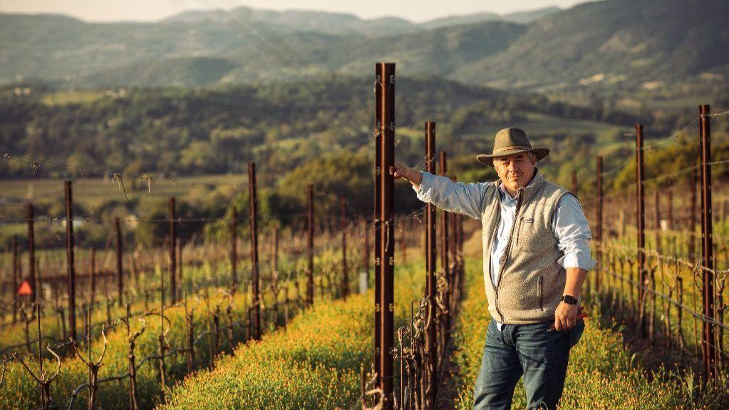 Rolando Herrera at his Napa Valley winery.