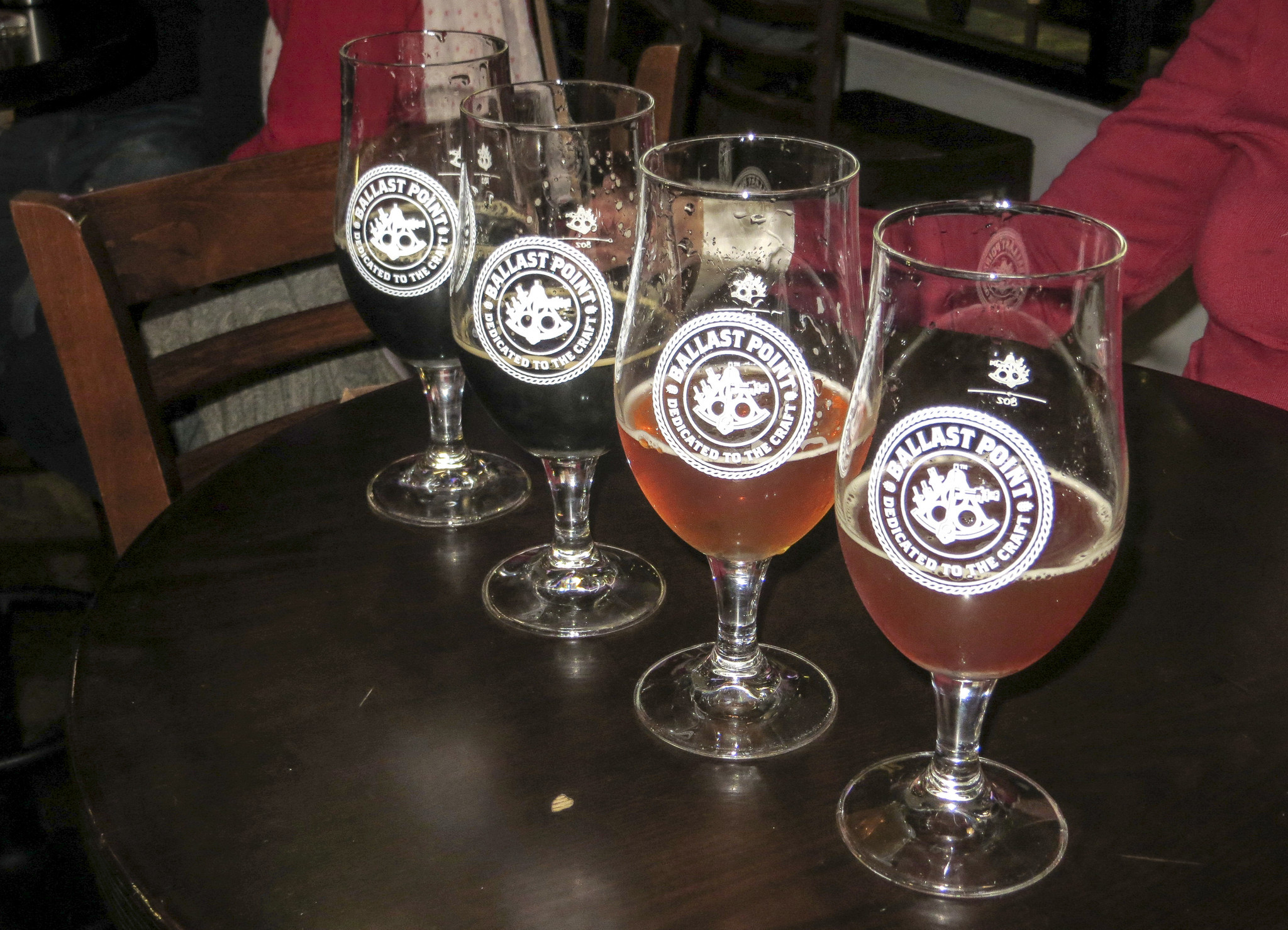 Tasters at Ballast Point Brewing in Little Italy.