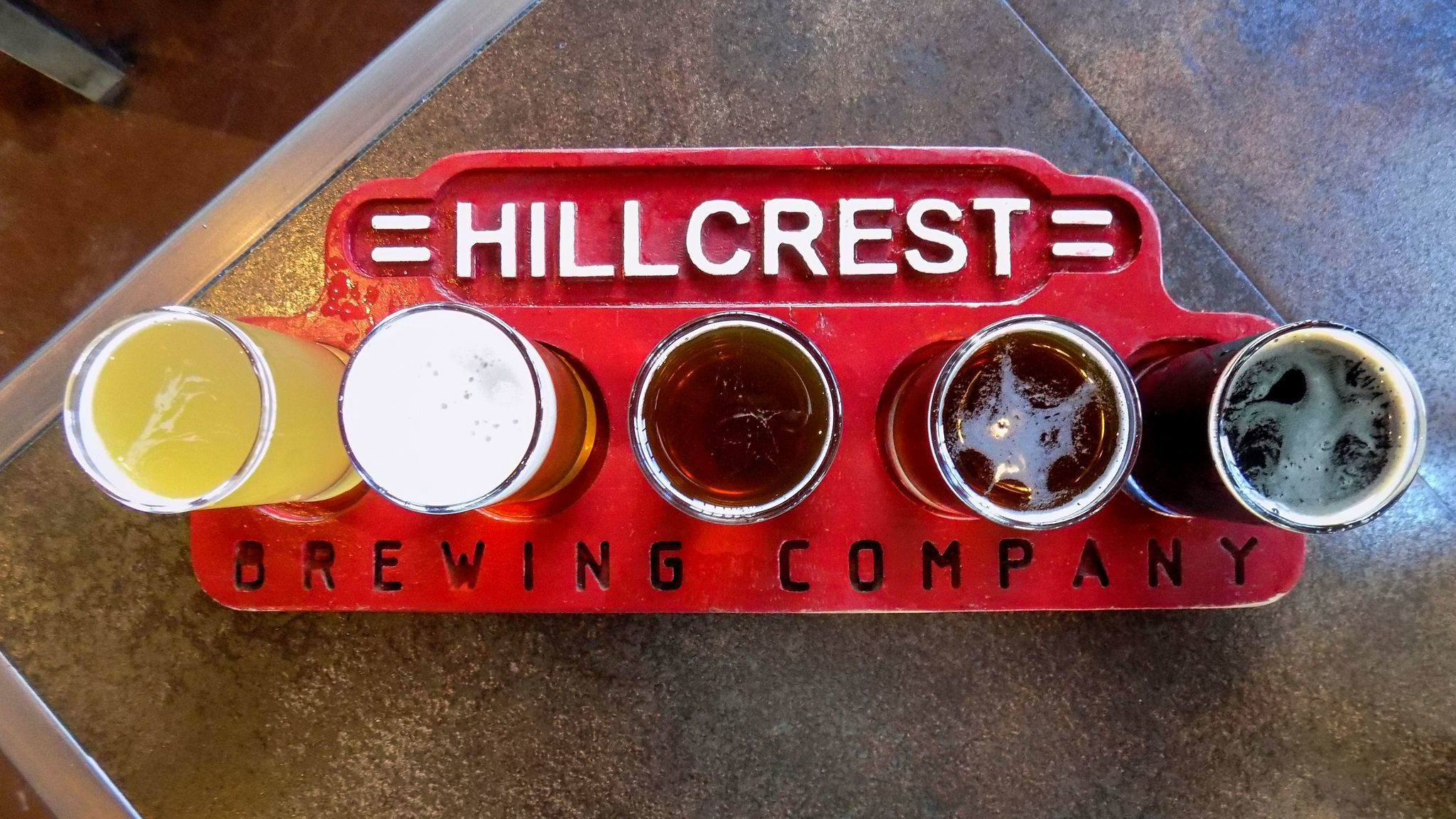 Tasters at Hillcrest Brewing Co. in the Hillcrest neighborhood.