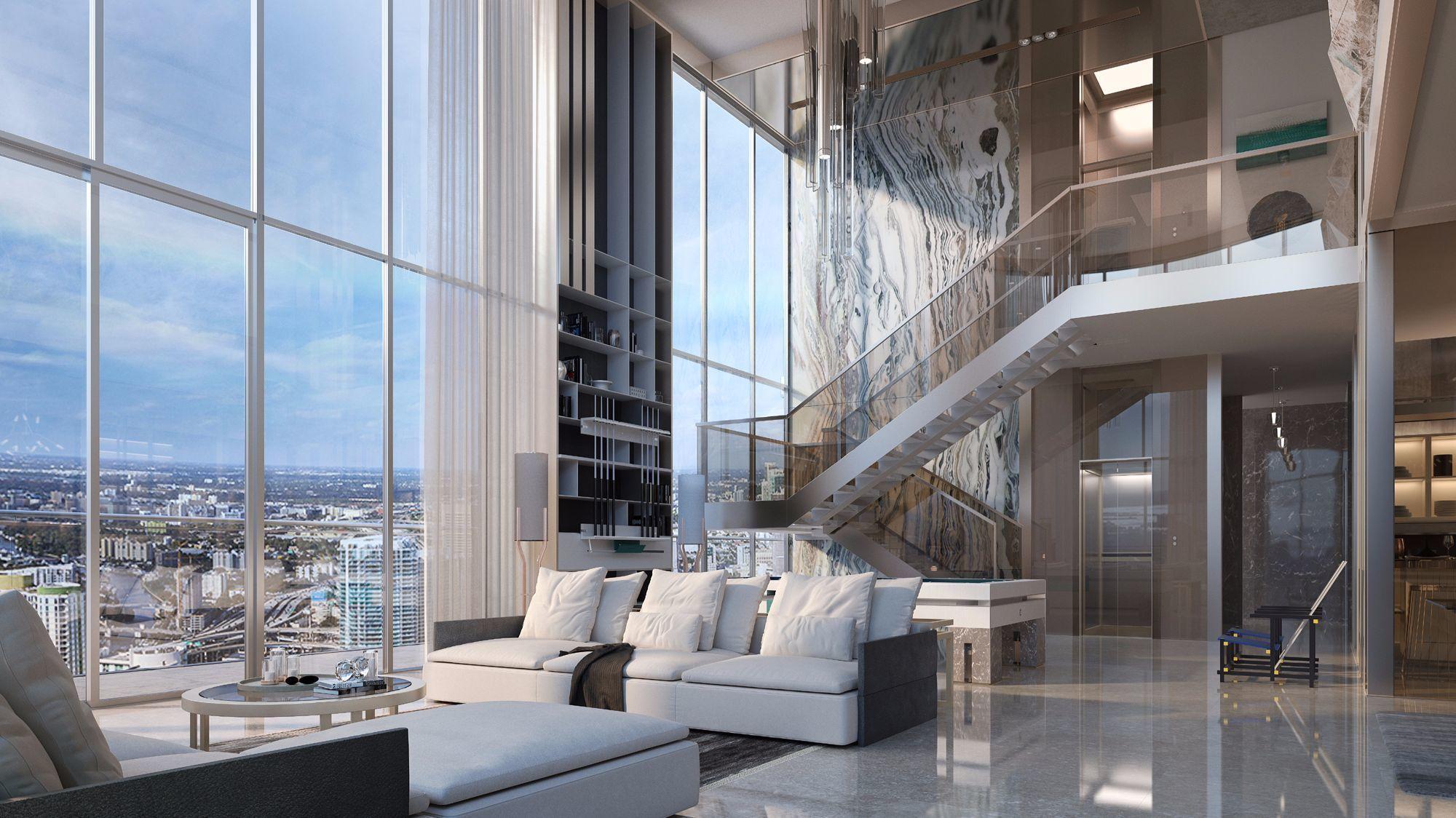 Downtown Miami S Brickell Flatiron Unveils Penthouse