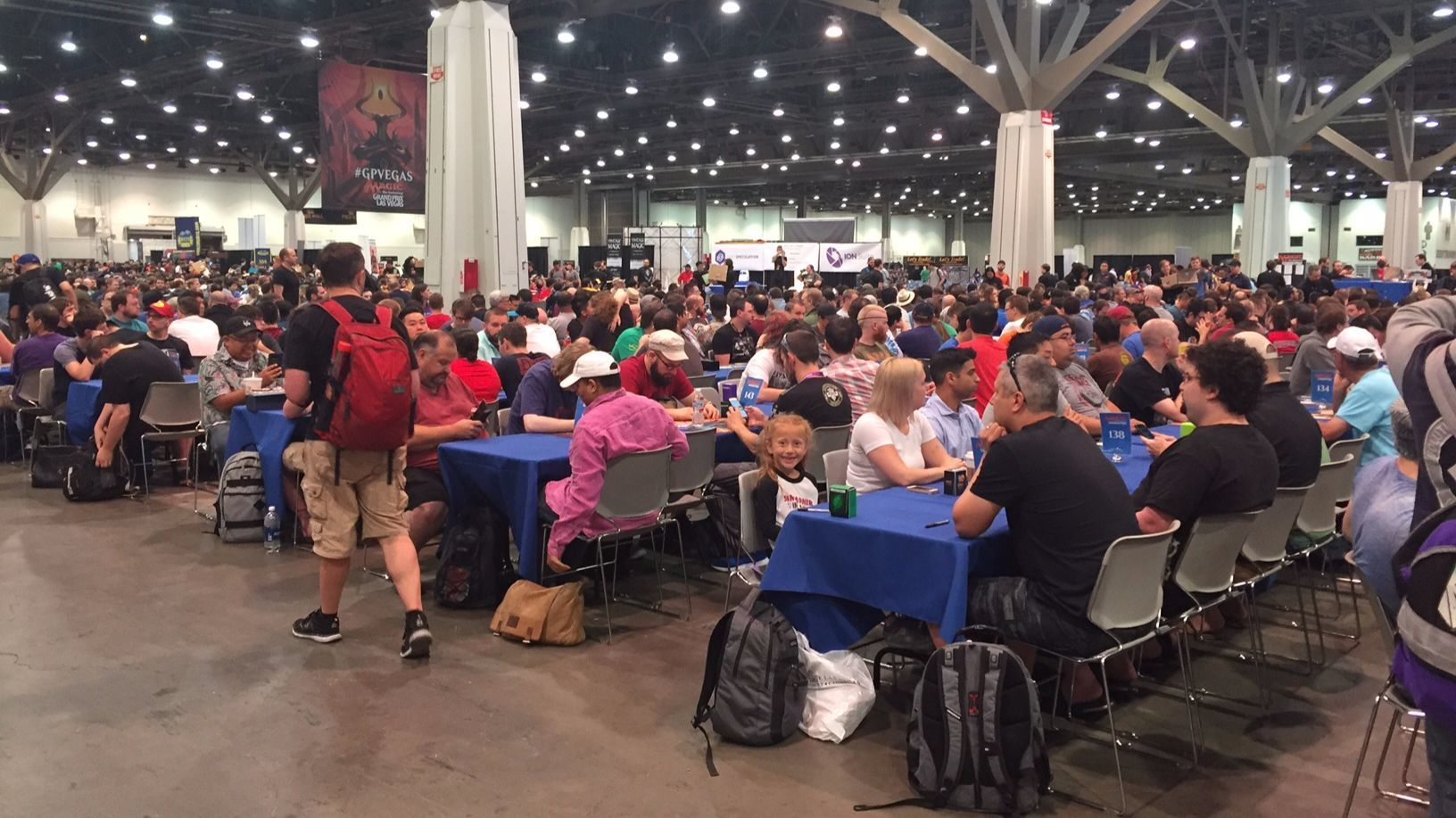 Dana is dwarfed by her competition at Magic the Gathering tournaments.