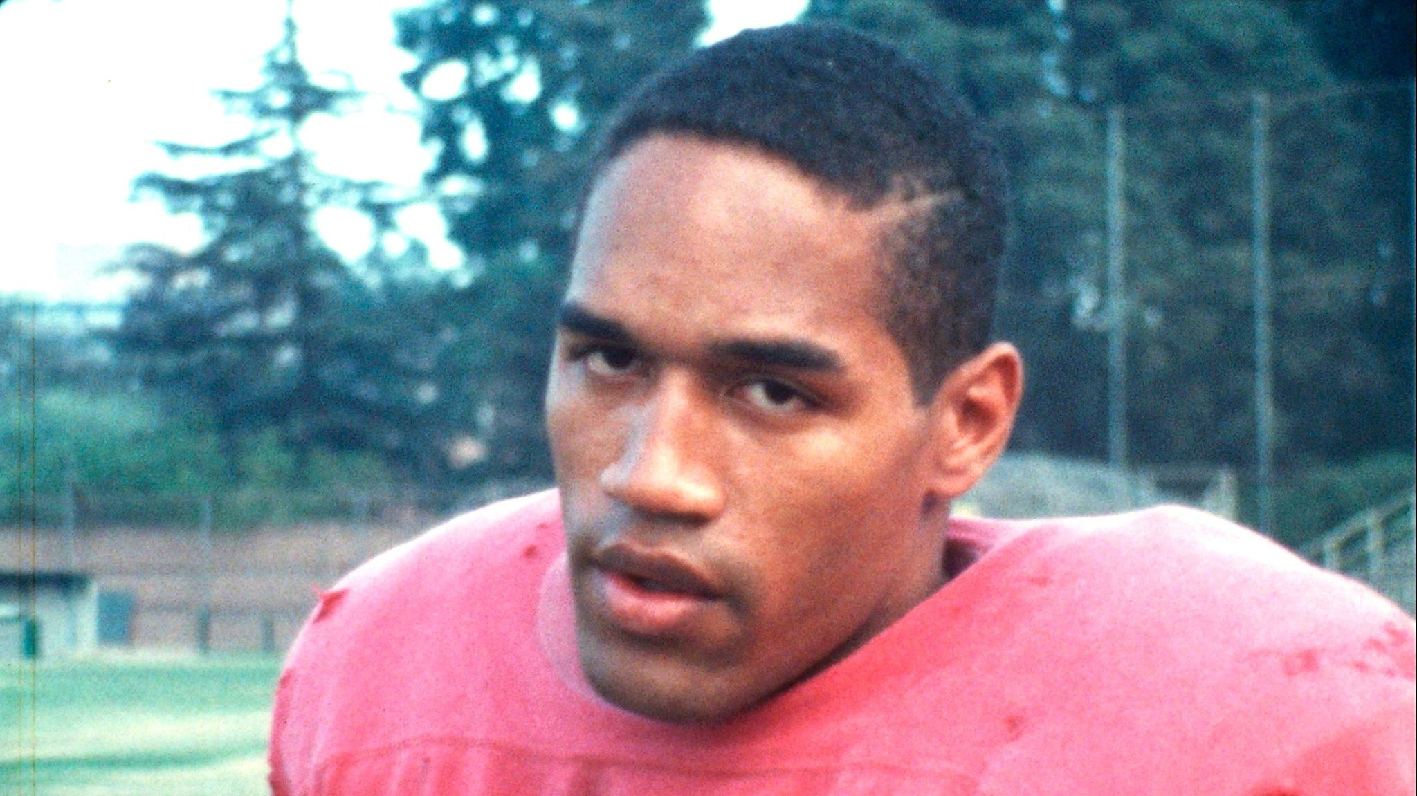O.J. Simpson is shown as a running back at USC.