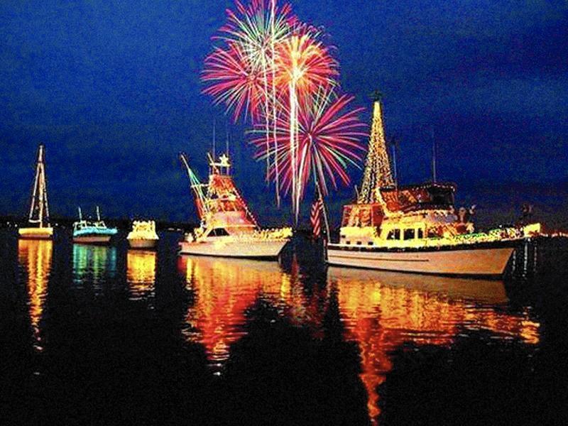 Venetian Night Back With Lit Boats Fireworks Lake
