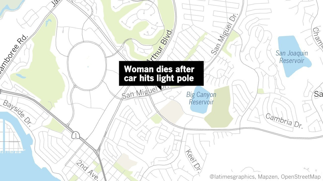 Driver Dies After Car Hits Light Pole In Newport Beach