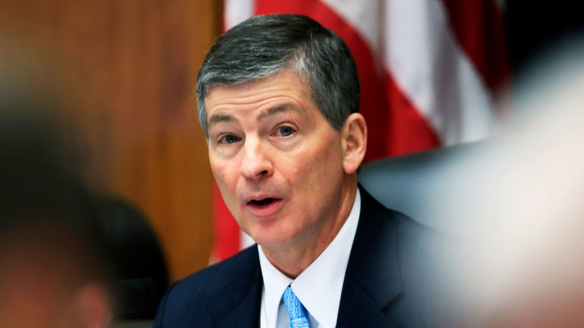 Rep. Jeb Hensarling (R-Texas), chairman of the House Financial Services Committee, speaks during a May hearing on overhauling financial regulations.