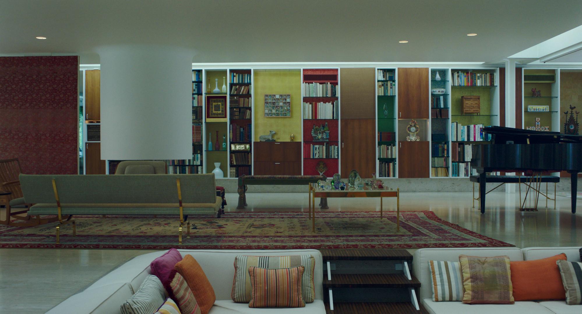 The living room of Eero Saarinen's Miller House in Columbus, Ind., with a sunken