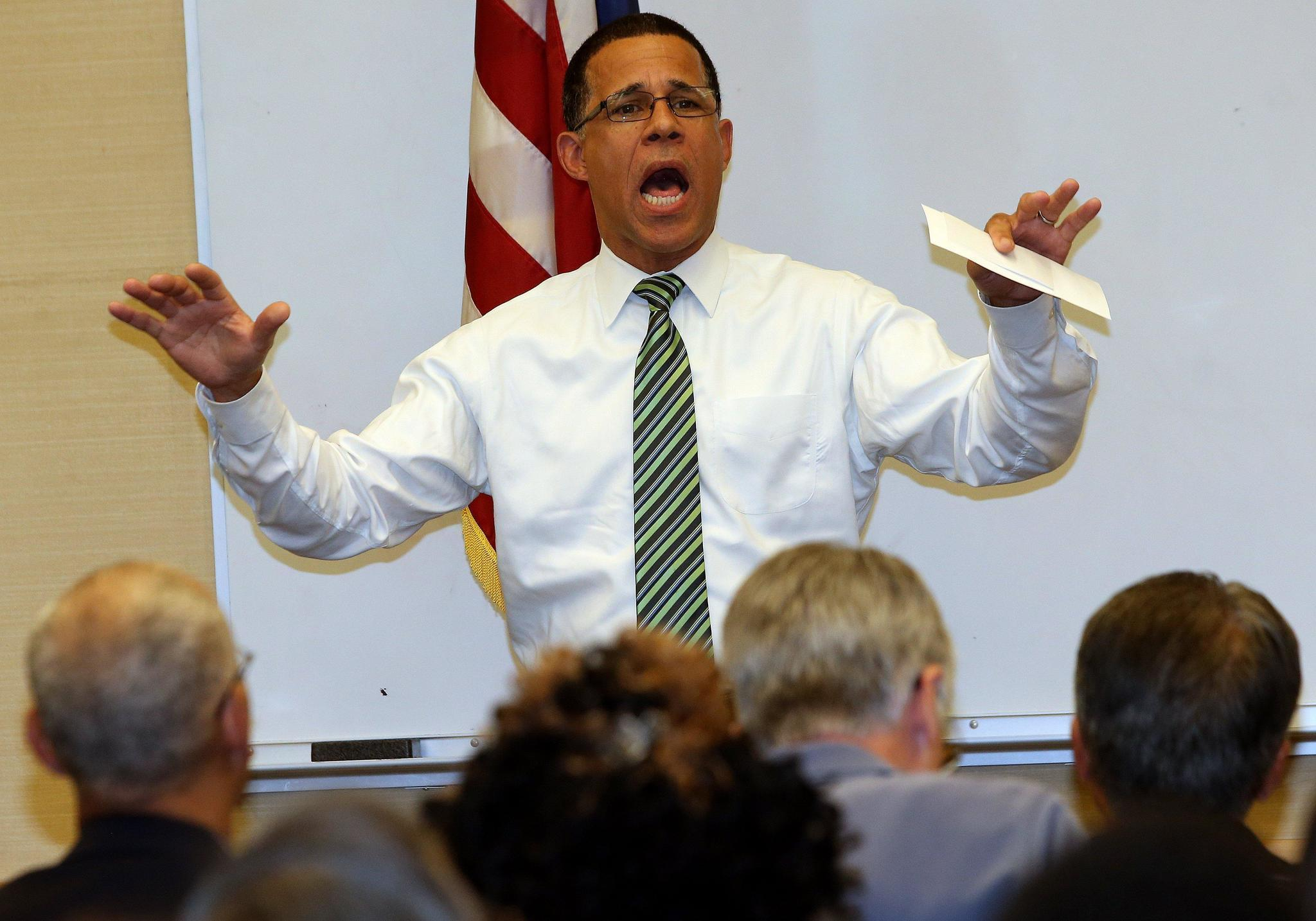 Brown Talks Health Care, Hate Crimes At Town Hall In Crofton