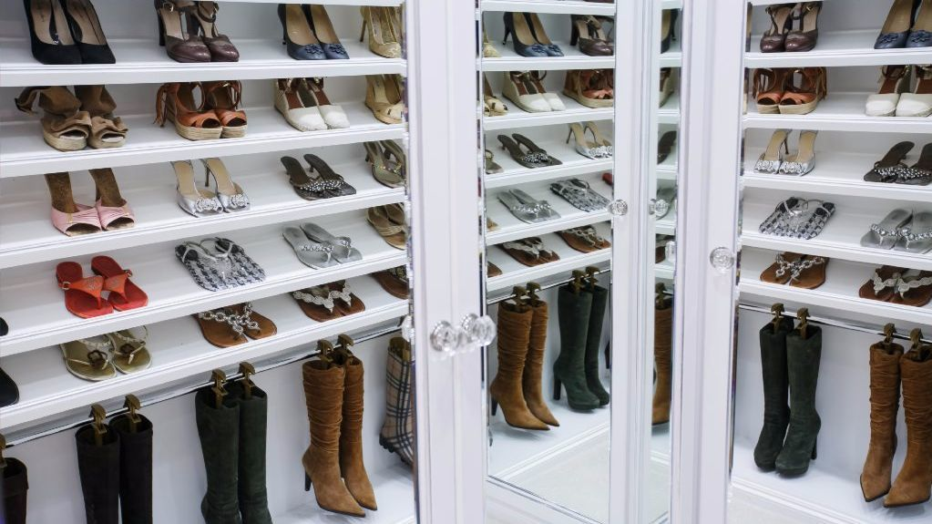 In this closet designed by Lisa Adams, shoes get lots of room to breathe.