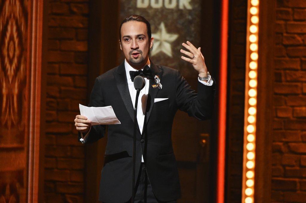 Lin-Manuel Miranda at the Tony Awards.
