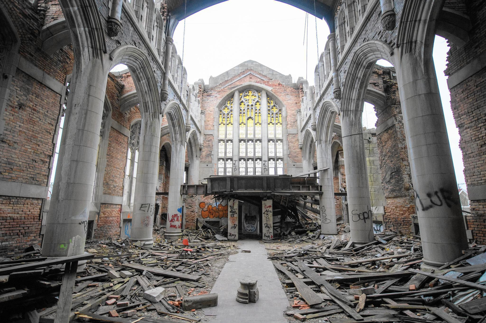 Bidders Line Up To Study Remains Of City Methodist Church
