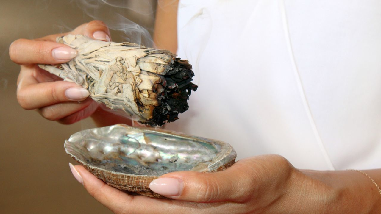 The Native American practice of smudging is used to elevate the mood of a space.