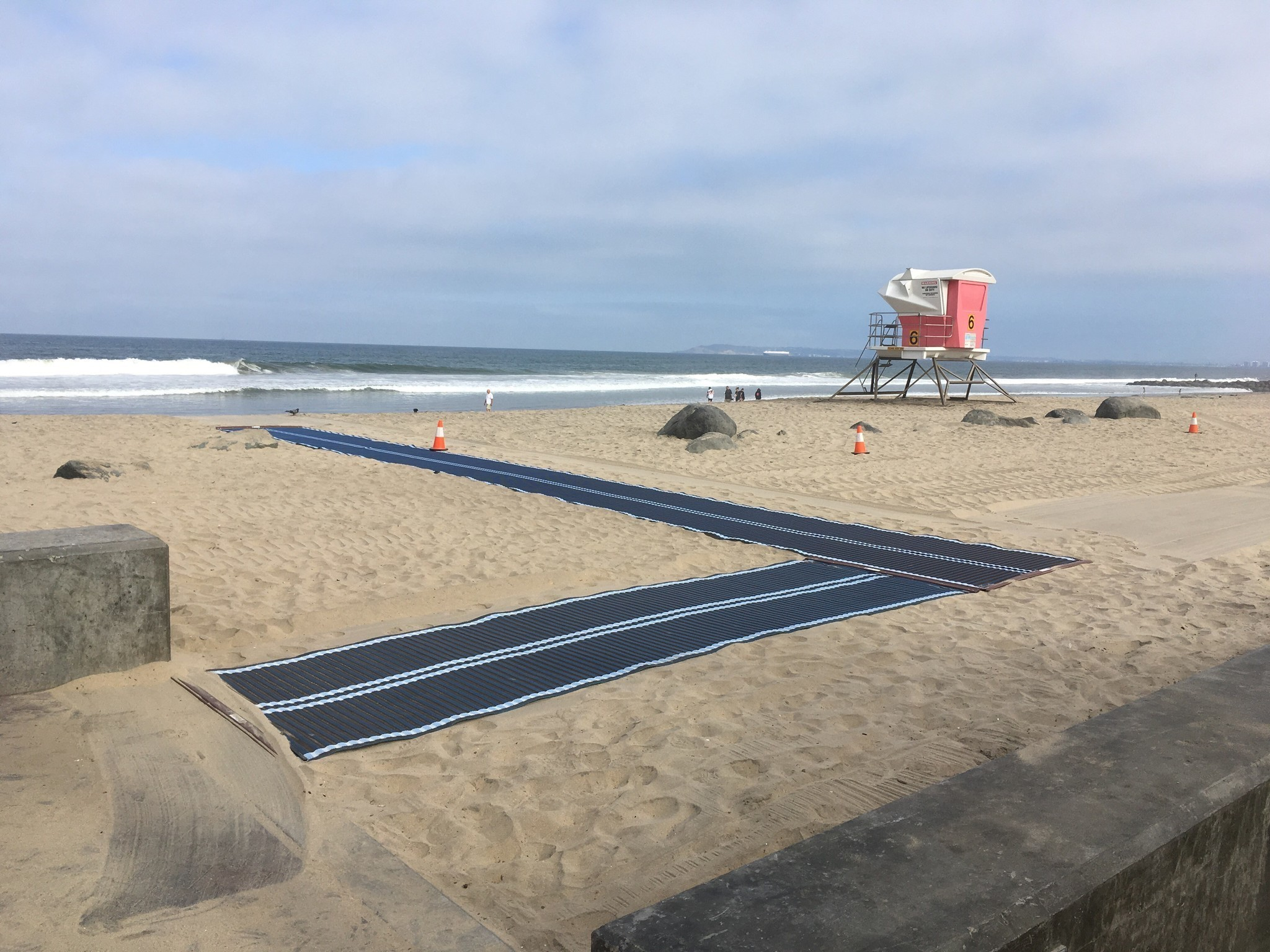 I B Installs Wheelchair Access Mats To Beach The San
