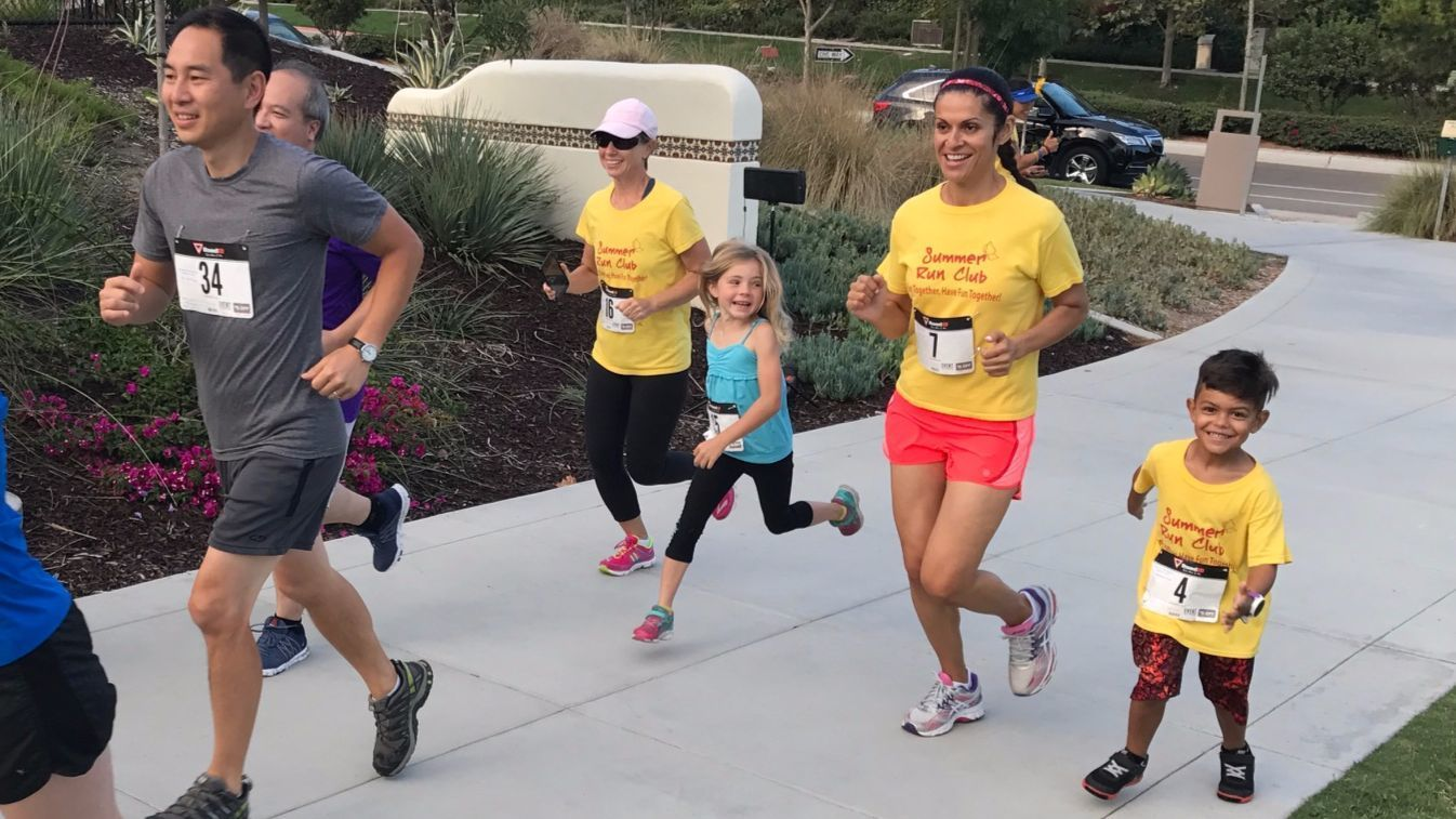 The run club included runners as young as four-year-old Alejandro Colon.