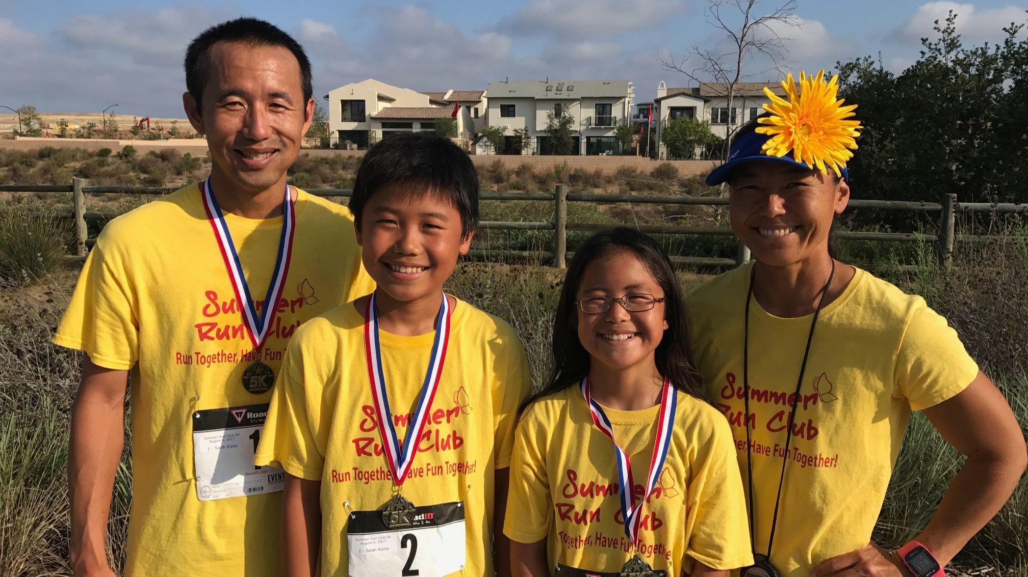 The Kono family runners.