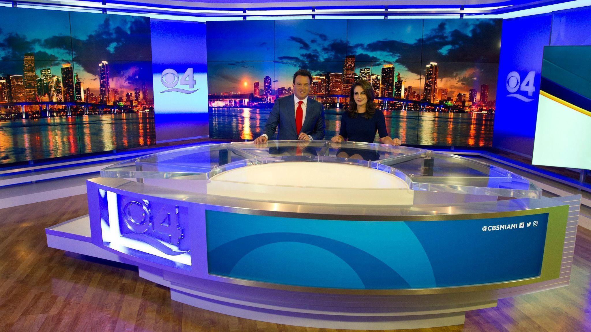 Miami S Wfor Ch 4 Unveils New News Set Sun Sentinel