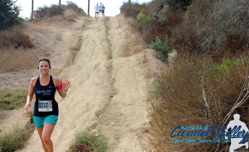 Steep hills make for a challenging course.