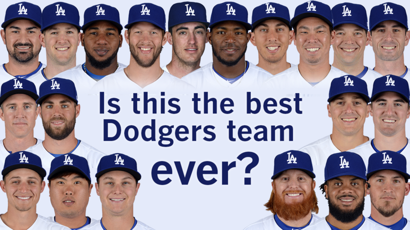 this isn t the best dodgers team ever but it s still pretty great