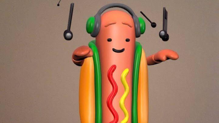 A screenshot from Snapchat shows the Dancing Hot Dog.
