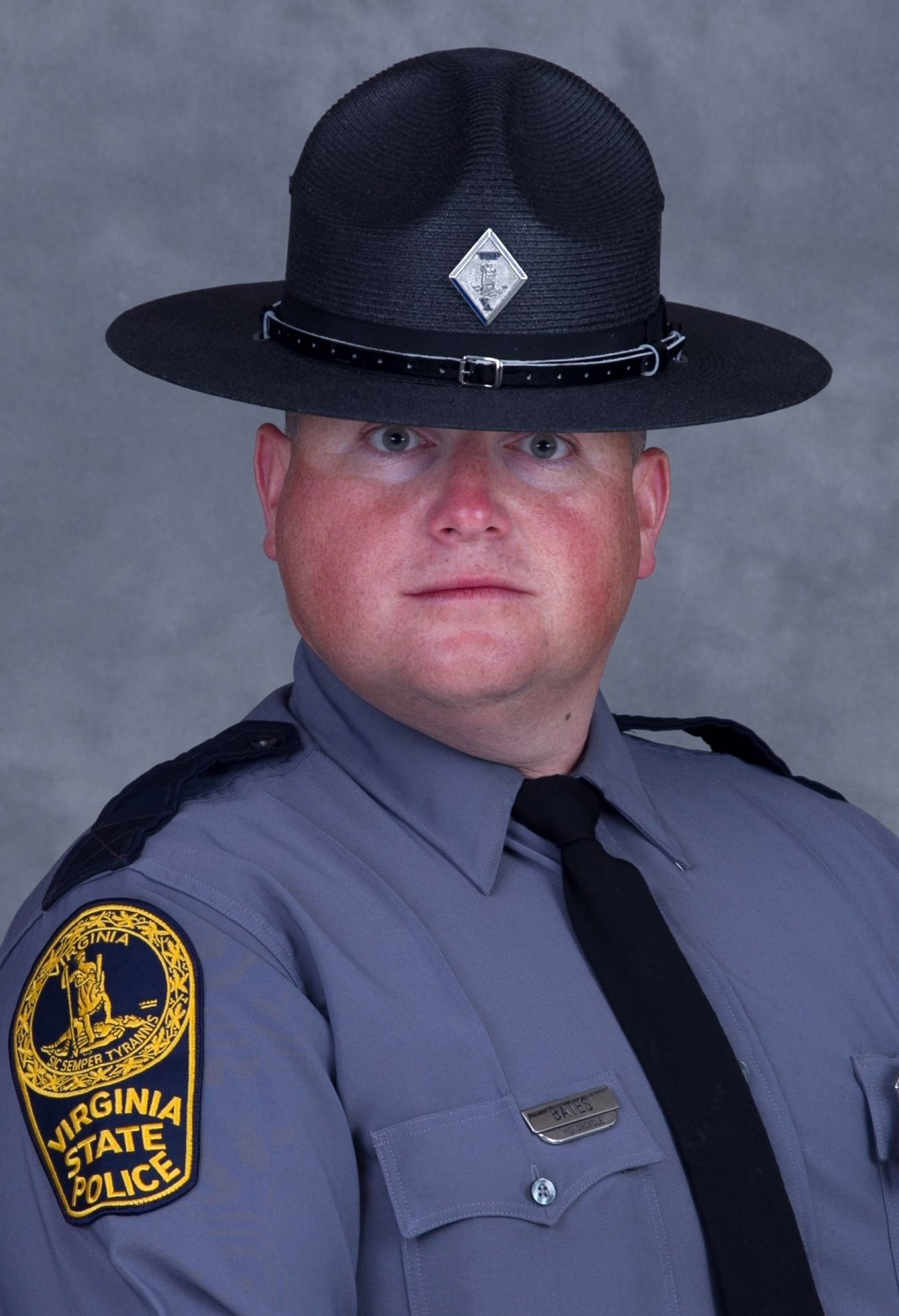 Virginia Trooper Pilot Berke M.M. Bates poses for his official photo.